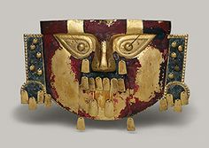 Funerary Mask, 10th–11th century, Peru; Sicán (Lambayeque), Gold, cinnabar, copper overlays (1974.271.35)  Egyptian Red Gold | Thematic Essay | Heilbrunn Timeline of Art History | The Metropolitan Museum of Art