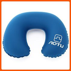 Neck Pillow - OUTAD Premium Ergonomic Neck Support Pillow -Ultralight U-Shaped Travel Pillow , Airplane Rest Pillow - Designed for Airline, Bus, Car, Train - Dark Blue - Dont forget to travel (*Amazon Partner-Link)