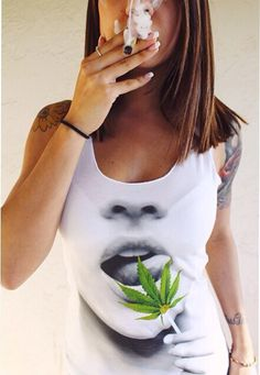 420 Shirts: 420 & Marijuana Clothing,Weed Shirts, T-Shirts and Accessories. Shop cannabis t-shirts created by independent artists from around the globe. Girl Smoking, Smoking Weed, Women Smoking, Ganja, Does Your Mother Know, Stoner Style, Hot Girls, Weed Girls, Puff And Pass