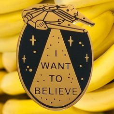 "I want to believe lapel pin <br></br><font color=""#BDBDBD"">Pin I want to believe</font> / la barbuda"