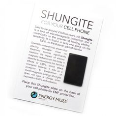 Scientific research and experiements have shown that placing Shungite close to your cell phone, and other electronic sources, significantly weakens the impact of electromagnetic radiation on the body. It absorbs and neutralizes the harmful effects of EMFS, which affect energetic balance and your health. Place this shungite plate on the back of your cell phone or case (it already has adhesive on it).