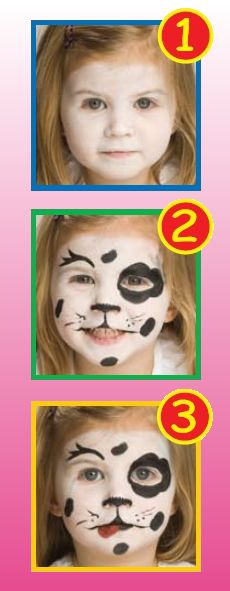 Face painting- 101 day of school / Dalmatian party
