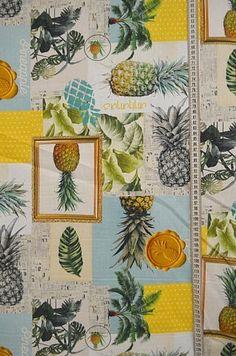 Weiteres - Dekostoff Ananasgütesiegel - ein Designerstück von stoffe-tippel bei DaWanda