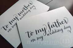 Wedding Card to Your Dad Father of the Bride Cards by marrygrams