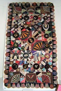 Crazy quilt made by Ann Marie Failing Brown,1881