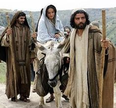 When Joseph Went To Bethlehem 2 - He urged the donkey forward, then, with Mary on its back,  And carried bread and goat cheese in a little linen sack.