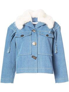 Rejina Pyo джинсовая куртка с меховым воротником
