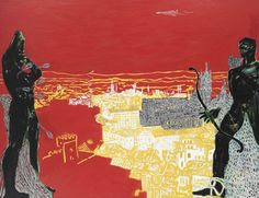 "Peter Doig Red Sienna"", 1985 Oil on canvas 70 x 92 inches 180 x 234 cm Peter Doig, Edward Hopper, Modern Art, Contemporary Art, New York Art, Art Design, Art World, Oil On Canvas, Original Artwork"