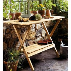 Shop for Wood Console Table/ Potting Bench. Get free delivery at Overstock.com - Your Online Garden