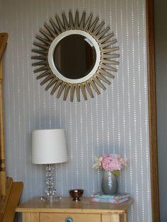 Drip Drop Dot: Reusable wall stencil, DIY decor - wall stencil, decorative wall stencils, stencil, wall decor, stencils. $30.00, via Etsy.