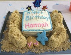 Beach Party Sandcastle Birthday Cake... Coolest Birthday Cake Ideas