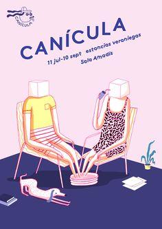 Cinta Arribas ha diseñado la imagen de Canícula, programa cultural que tendrá como base de operaciones la Sala Amadís de Injuve.