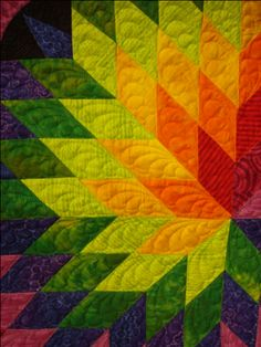 Spiral Loan Star - Quilt Pictures, Patterns  Inspiration... - APQS Forums lone star quilts, quilting patterns, quilt design, quilt patterns, quilting pictures, feather, bright colors, diamond star quilt, inspirational quilts