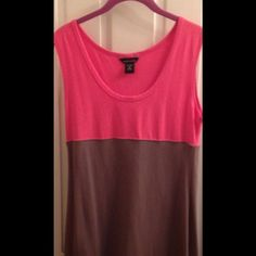 """Victoria Secret pink and gray summer dress Pink and gray dress. It fits a little above the knee. This is great for a """"night out"""" or even as a beach coverup!!! Victoria's Secret Dresses"""