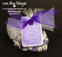 Treat bag tag. www.lovemimidesigns.blogspot.com Stampin' Up Stamp Set:  Chalk Talk