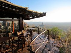 Eagle's Nest Restaurant, Vingerklip Lodge, Namibia.