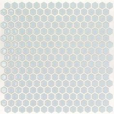 Bliss Edged Hexagon Polished Modern Gray Ceramic Mosaic Floor and Wall Tile - 3 in. x 6 in. Tile Sample
