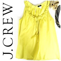 J.Crew 100% silk top NWOT Beautiful j.crew top with braided neck detail. 100% silk! Only worn ONCE. AMAZING CONDITION.                                                        NO trades Fair offers Use offer feature J. Crew Tops