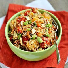 Mandarin Quinoa Salad HealthyAperture.com