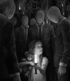 Boris Vallejo, Dark Fantasy Art, Arte Horror, Horror Art, Creepy Paintings, Face Paintings, Images Terrifiantes, Art Sombre, Art Sinistre