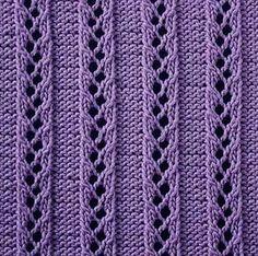 Knitting Galore: Sábado Stitch - Escalera Al Cielo Costilla