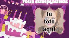 feliz cumpleaños marco de fotos muy bonito pastel Happy Birthday Cake Photo, Happy Birthday Pictures, Dory, Gifts, Anniversary Pictures, Happy Birthday Funny, Happy Birthday Text, Happy Birthday Photos, Happy Birthday Little Brother
