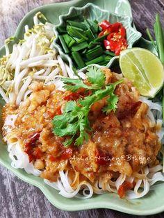 Healthy Thai Recipes, Thai Rice Noodles, Thai Street Food, Thai Dishes, Coconut Curry, Food Art, Dessert Recipes, Pasta, Meals