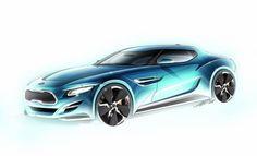 artistic sketchbook render car - Buscar con Google