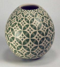 Mata Ortiz Pottery by Leonel Lopez Jr Sgraffito Olla | eBay