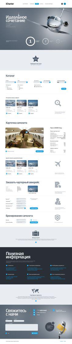iCharter.ru by Dliniy , via Behance