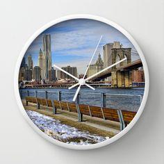 New York city Wall Clock by Claude Gariepy - $30.00