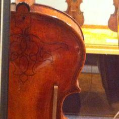 Geometric design on the back of a Gasparo da Salo viola, c.1609