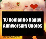 10 Romantic Happy Anniversary Quotes