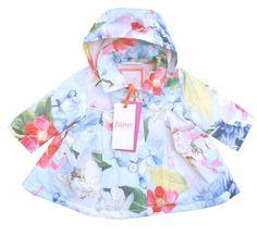 7db4c362c14d14 Ted Baker Baby Girls Jacket Rain Coat Floral Designer Newborn Gift 0-3  Months