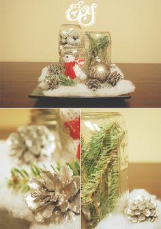 the 25th hour: CHRISTMAS CRAFTS - blog post, mason jar center piece.
