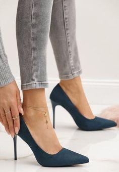 Pantofi stiletto Nacionales Albastri