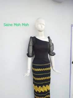 Traditional Dresses Designs, Myanmar Dress Design, Myanmar Traditional Dress, Burmese, Dress Designs, Refashion, Plus Size Dresses, Designer Dresses, Costumes