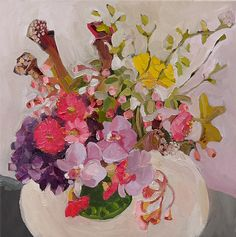 Laura Jones, Small Mixed Arrangement 2013, oil on linen, 50 x 50 cm