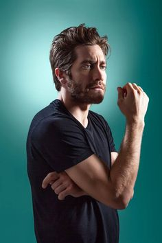 """Jake Gyllenhaal ~ """"Comic Genius"""" is a beautiful project by American photographer Matt Hoyle, who has made more than 130 portraits of famous actors & comedians. Matt Hoyle has now consolidated his portraits in a book called """"Comic Genius, portraits of funny people."""""""