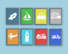 CarS for Kids Print Set Automobiles Transportation by DbyNbuzz, $4.95