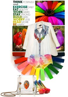 """""""Be happy!!!Be rainbow!!!"""" by ladysnape ❤ liked on Polyvore"""