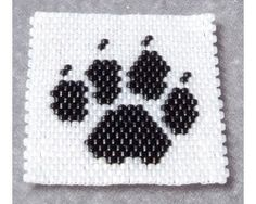Bear Paw Print Amulet Bag Panel