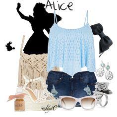 """Alice - Summer - Disney's Alice in Wonderland"" by rubytyra on Polyvore"