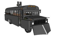 'Concept School Bus for Post Zombie World' Zombie Apocalypse Survival, Zombie Apocolypse, Survival Weapons, Survival Mode, Survival Prepping, Zombie Vehicle, Bug Out Vehicle, Bug Out Trailer, 3d Warehouse