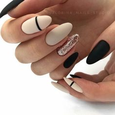 Matte nails are so popular in the beauty world these days. In case you were looking for perfect nails, we have picked out 40 matte nail designs for you to try. Gold Nail Designs, Beautiful Nail Designs, Beautiful Nail Art, Nails Design, Gorgeous Nails, Gold Nails, Matte Nails, Fun Nails, Matte Almond Nails