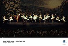 Print ad: Volkswagen: Ballerina