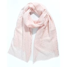 Ladies' Light Pink tiny hearts foil print scarf, by Style Slice, features shiny metallic scatter of lovehearts printed in silver. Elegant spring or summer shawl that can be personalised with a charm or a monogram. Suitable as a gift for anniversary, birthday or any day in which to tell the woman in your life, be it a Mum, Wife, Sister or Girlfriend that she is special. #scarf #shawl #wrap #scarves #fashion #vintage #handmade #accessories #etsy #gift #headwrap #ootd #bandana #pashmina #shrug