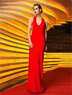 Sheath/Column Halter Floor-length Velvet Evening Dress (7598... – USD $ 129.99