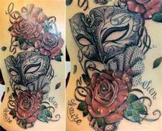 33 Notes Permalink Tags Burlesk Mask Tattoo Rose Roses