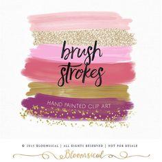 watercolor brush strokes pink - Cerca con Google